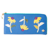 RUDBECKIA / FASTENER  LONG  WALLET