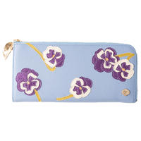 PANSY / FASTENER  LONG  WALLET