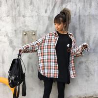 チェックシャツ「EXIT」