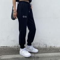 カットジョガーパンツ「ON」#802