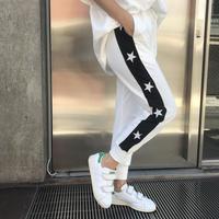 刺繍スウェットジョガーパンツ「STARS」