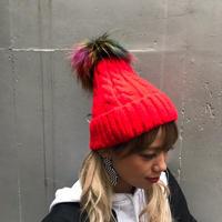 MIXファーニット帽