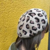 レオパ柄ベレー帽
