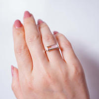 Pink opal×Quartz. Ring