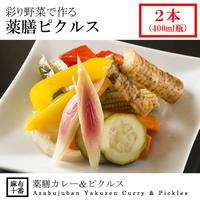 [冷蔵] 彩り野菜で作る薬膳ピクルス(400ml瓶2本)