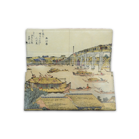 "made in Ryogoku ""粋"" HOKUSAI  Long Wallet"