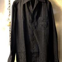 70,s 国産Konpora Polyester Shirt オールド未使用美品