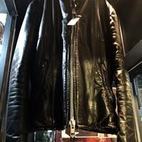 〈目玉〉70,s CANADA Export Leather 希少ダブルジッパー&サイドスリットジッパー 美フォルムSINGLE RIDERSヴィンテージスペシャルプライス