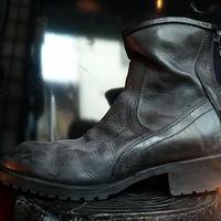 JULIUS 2014 石灰加工Engineer boot BOX付極上美品