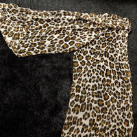 Rock'n Roll Leopard Brown 90,s Lace Muffller美品