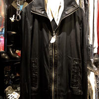 ylts Cotton&Leather Drizzler jacket BLACK美品