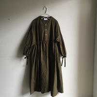 Yarmo  Gathered Dress(Khaki)