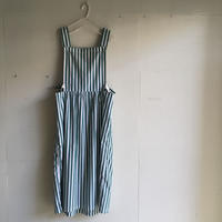 Yarmo  Bib and Brace Dress Candy Stripe(Green)