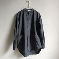 Yarmo  Band Collar Shirts(Charcoal)