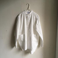 Yarmo  Band Collar Shirts(White)