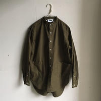 Yarmo  Band Collar Shirts(Khaki)