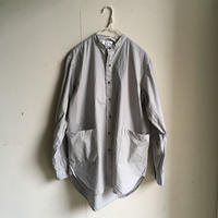 Yarmo  Band Collar Shirts(Grey)