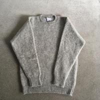 Shetland Woollen Co.  Shaggy dog sweater( Silver-M )