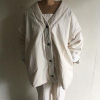 Yarmo  Quilt Lined V Jacket( Natural )
