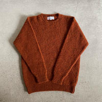 Shetland Woollen Co.  Shaggy dog sweater( Rust-XL )