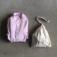 Yarmo  Band Collar Shirts Candy Stripe(Pink)