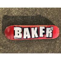 """BAKER / """"Brand Logo White"""" 7.5inch"""