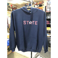 "State x Magenta / ""Navy Hooded Sweatshirt"" Navy / L"