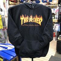 "Thrasher / ""Flame Logo Hoodie"" Black / S, M, L"