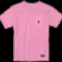 """Grizzly / """"OG Bear Pocket T-Shirt"""" Pink / M"""