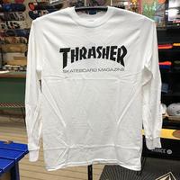 "Thrasher / ""Mag Logo L/S Tee"" White / S, M, XL"