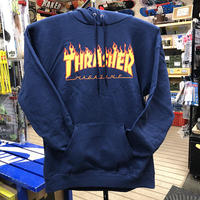 "Thrasher / ""Flame Logo Hoodie"" Navy / S, M, L, XL"