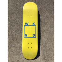 "WKND / ""Logo Deck"" Yellow / Blue 8.0inch"