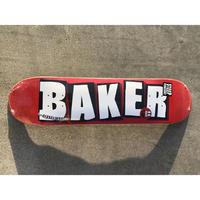 """BAKER / """"Brand Logo White"""" 7.56inch"""