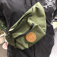 "SPITFIRE / ""Bighead Circle Patch Shoulder Bag"" Army"