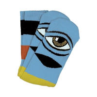 "Toy Machine / ""Sect Eye Bigstripe Sock"" Baby Blue"