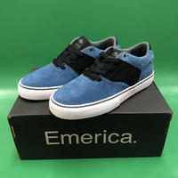 "Emerica / ""Reynolds Low Vulc Youth"" Blue / Black / White 1inch (19cm)"
