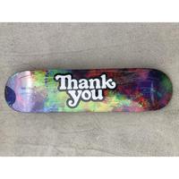 """Thank You / """"Logo Deck Tie-Dye"""" 7.75inch"""