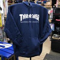"Thrasher / ""Mag Logo Hoodie"" Navy / S, M, L, XL"