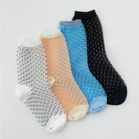pin tuck dot socks