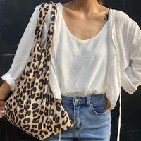 【予約商品】肩掛けレオパードバッグ