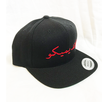 """19SS""  PANDEMIC  パンデミック   Snap Back Cap -Arabic Logo-  -Black/Red-"