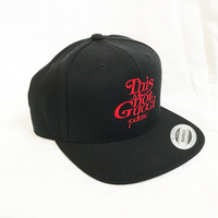 """19SS""  PANDEMIC  パンデミック   Snap Back Cap -This is not-  -Black/Red-"