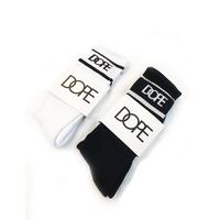 """18SS"" DOPE  / ドープ Varsity Socks  白黒2足セット -2Pac SET-"