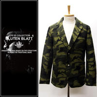 BLUTENBLATT ブリューテンブラット  Wool Camouflage Tailor Jacket-OLIVE-