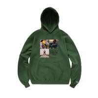 """19SS""  PANDEMIC×CHAMPION  パンデミック×チャンピオン  Travis Photo  Hoody  -D.Green-"