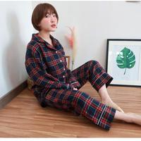秋にGOOD🖤Check Pajamas