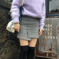 【美脚効果】 Unbalanced Skirt