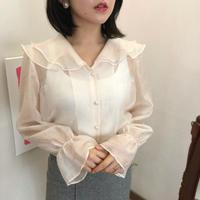 【大人気】Soft see-through blouse【セット割あり】