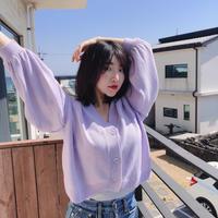 【春の新作】Volume Cardigan 【Purple 】