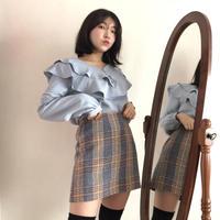 Cutie check skirt 【セット割あり】